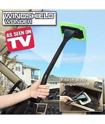 Windshield Wonder Seen Tv Cleaning New Window Wiper Cleaner Microfiber Glass Kit