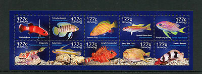 Curacao 2014 MNH Fish 10v M/S Marine Bass Basslet Dragonette Goby Scorpionfish