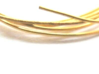 18ct Yellow Gold Solid Round Wire 1.0mm x 100mm-Jewellery Making 18-Gauge-18K