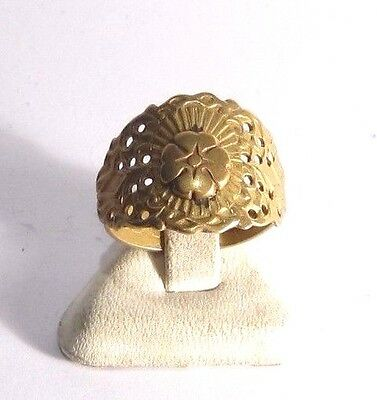 Excellent Early 20Th Century Bronze Ring With Open-Work,hand Made # 1A