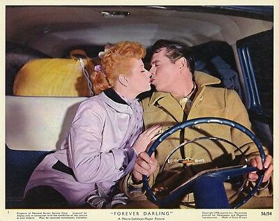 Lucille Ball Desi Arnaz Kissing Forever Darling Original Color 1956 Mgm Photo