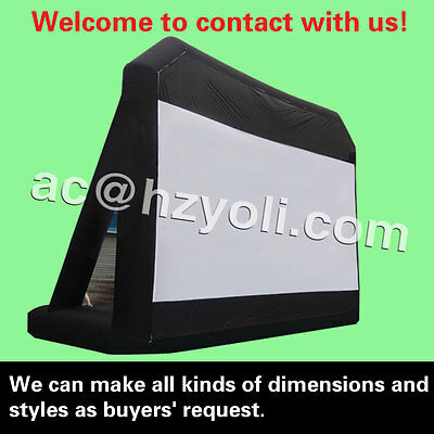 free shipping,giant inflatable movie/advertising screen,different dimension,size