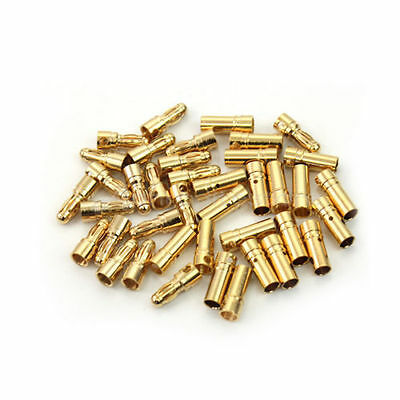 1/5/10/20 Pairs 3.5mm Gold-plated Metal Bullet Banana Plug Connector RC Battery