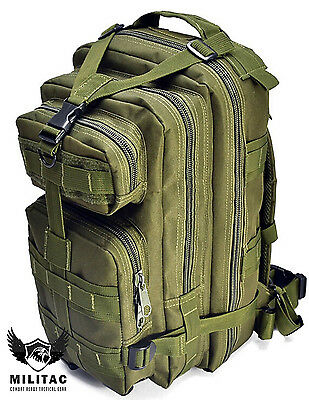 30 Litre Green Military Backpack /Special Ops Tactical Molle Rucksack Hiking Bag