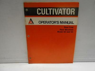 Used Allis-Chalmers Cultivator Manual Row Crop Rear Mount 93&95 Manual  -19F5