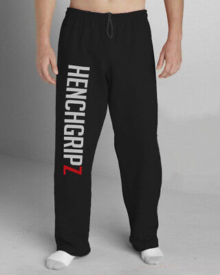HENCHGRIPZ EXTRA LONG TALL Trousers MMA Gym Bottoms Jogging Joggers Running Men