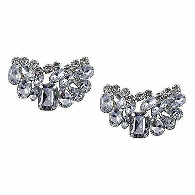 "Glitzy Jewelled Shoe Clips, Shoe Embellishments, Brooches (1 Pair) ""Olivia"""