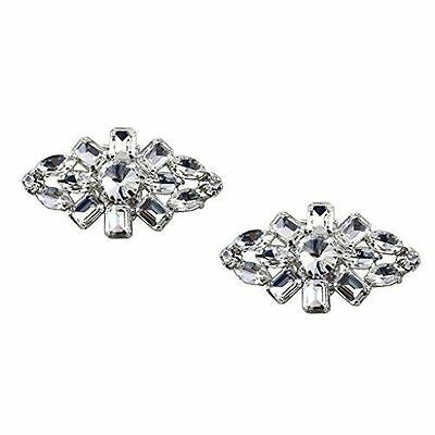 "Glitzy Jewelled Shoe Clips, Shoe Embellishments, Brooches (1 Pair) ""Rosie"""