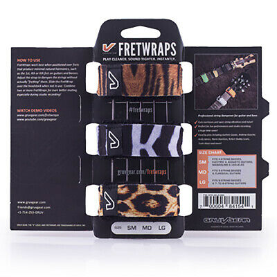 Gruv Gear FretWraps String Muters Dampeners 3-Pack Wild (Small) Animal Prints