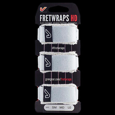 Gruv Gear FretWraps String Muters Dampeners Bass or Guitar 3-Pack White (Small)