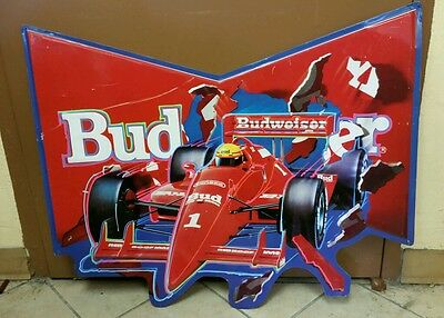 1991 Budweiser Indy Car Bow Tie Metal Sign