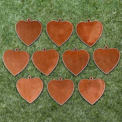 Enamelling Heart Plain with Loop Large 10x Copper Blank Craft Shape