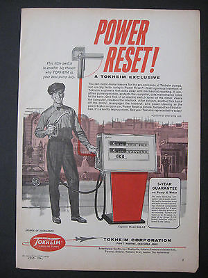 Vintage 1964 TOKHEIM GASOLINE PUMPS Gas Station Oil Print Ad Page Advertisement