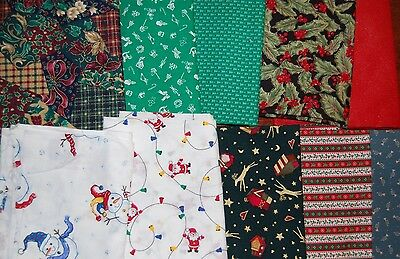 "Lot of 40pcs CHRISTMAS quilt blocks, cotton fabric charm pack, 10"" squares"