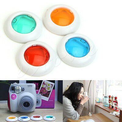 4Pcs Colors Filter Close-up Lens For Fujifilm Instax Mini 7s 8 50s Camera Set