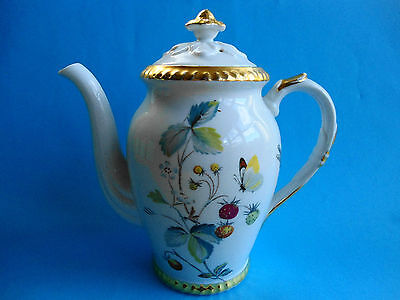 Royal Worcester Coffee Pot Wild Strawberry