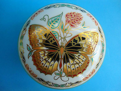 Royal Crown Derby Trinket Box Butterflies Of The World As New In Box