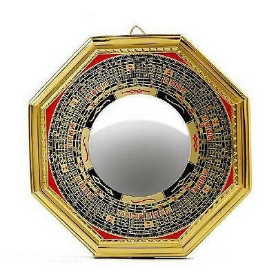 "4.8"" Chinese Oriental safe Protection Feng Shui Home House Convex Bagua Mirror C"