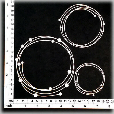 Chipboard Embellishments for Scrapbooking, Cardmaking -String Circles 35139w
