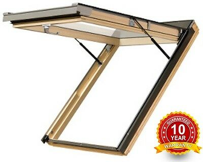 Optilight VK Timber Top Hung Exit Escape Roof Window 78 x 118cm Loft Skylight