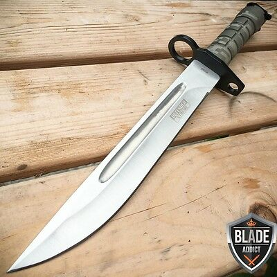 "13.5"" Military Survival Rambo Fixed Blade Hunting Knife Bayonet Tactical Bowie"
