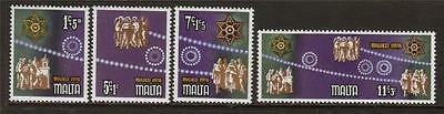Malta Mnh 1978 Sg611-614 Christmas Set Of 4