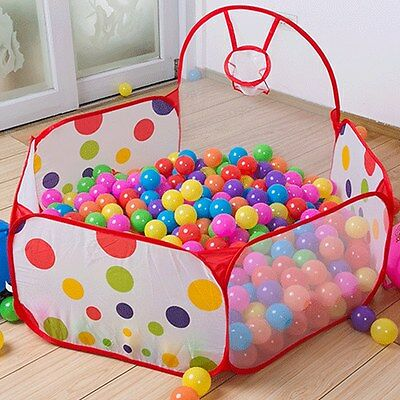 Foldable Kids Portable Indoor Outdoor Play Ocean Ball Pit Pool Holder Toy Tent