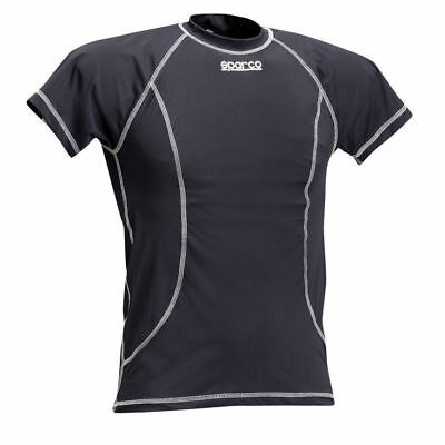 Sparco Short Sleeve Top T-Shirt BASIC stretch BLACK COOLMAX FREE DELIVERY