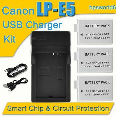 New LPE5 Battery Or  charger for Canon LP-E5 EOS 450D 500D 1000D Xsi T1i