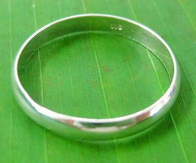 """925 sterling silver Plain """"CURVED 3mm"""" wedding band ring size G to Z+7 - UNISEX"""