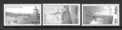 Malta Mnh 2003 Sg1337-1339 Windmills Set Of 3