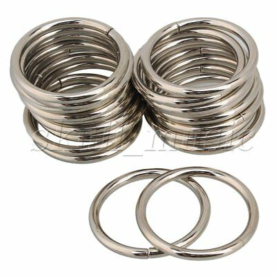 20pcs 38mm Metal O-Ring O Ring Non  Nickel Plated For Purse Making Craft