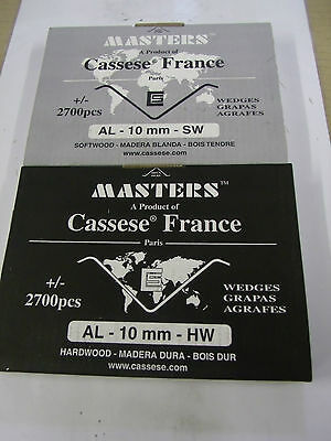 Cassese XS AL wedges 2700 p/box soft/hard wood various sizes for alfamacchine