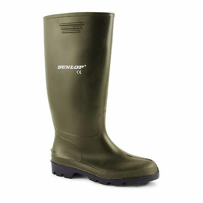 Mens Dunlop Wellington Boots Wellies Rubber Waterproof Shoes Size 7 8 9 10 11 12