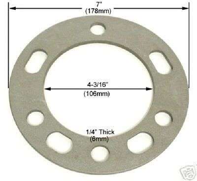 """4 Pc Chevy Wheel Spacers 6 Lug x 5.50 or 139.7 1/4"""" Inch Thick Part # AP-603"""