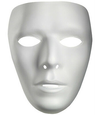 Male Blank White Face Mask