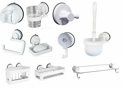 Rusts Or Flakes Free Gecko White Bathroom Suction Lock Range Bath Accessory Set