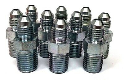 "1/2"" -8 JIC X NPT (10) pcs HYDRAULIC ADAPTER FITTING"