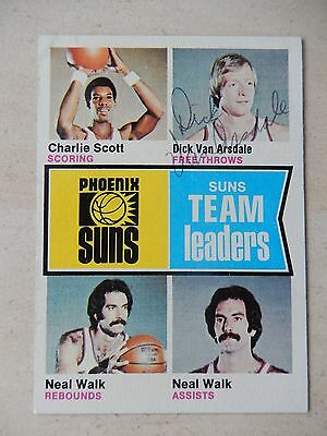 Dick Van Arsdale Autographed 1975 Topps Basketball Card