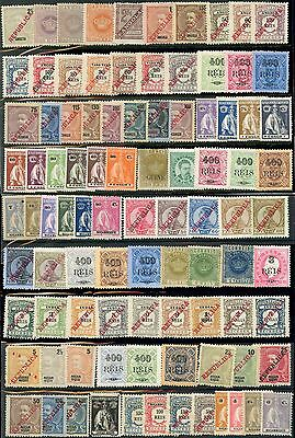 PORTUGUESE COLONIES MINT 93 stamps 1876-1914