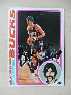 Brian Winters Autographed 1979 Topps Basketball Card