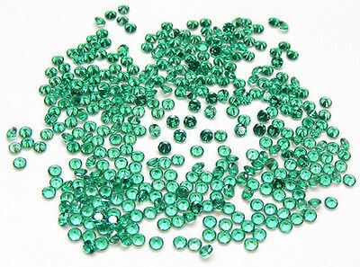 100 Pcs. Round 2.5 Mm. Machine Cut Lab Created Nanocrystal Emerald