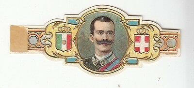 [54965] EARLY 1900's CIGAR BAND VICTOR EMMANUEL III ITALY CROWNED COATS OF ARMS