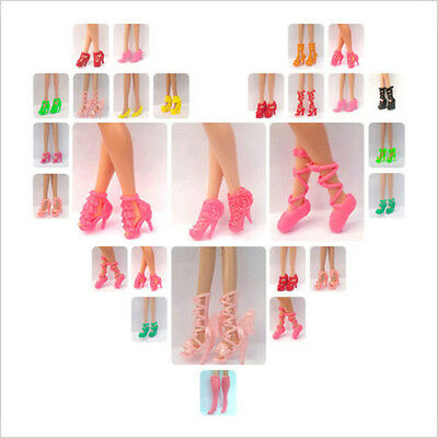 Lot 40Pairs assorted High Heels Shoes sandals For Barbie Doll fashion colorful