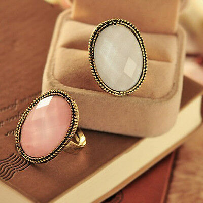 Fashionable Retro Style Big Rhinestone Ring Vintage Stone Fashion Girl