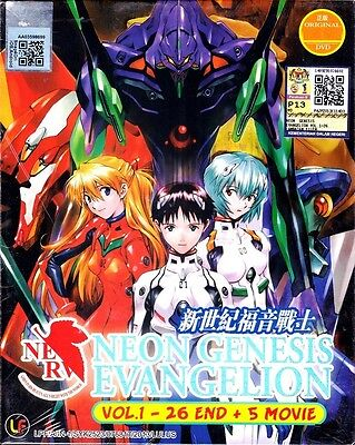 Neon Genesis Evangelion Vol. 1-26 End + 5 Movies ANIME DVD (ENG / JAP DUB)