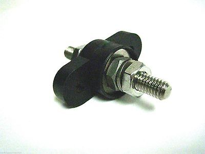 Black Junction Block Stud 250A 1 Stud 5/16-18 Feed Through Made In USA