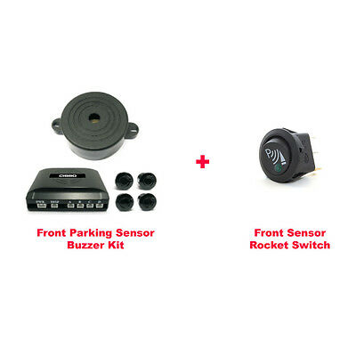 CISBO Front 4 Parking Sensors Buzzer Kit with Rocker Switch (SB373-4 B)