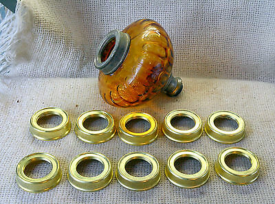 ANTIQUES VINTAGE 1 pc BRASS COLLAR FOR AN OIL LAMP FONT - 32mm - SPARE PARTS -