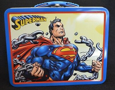 DC Comics 3D Superman Break These Chains Tin Lunchbox By The Tin Box Company